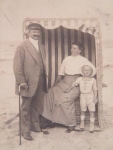 Historische Postkarte Usedom Strandkorb