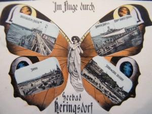 Alte Postkarte Art Deco Heringsdorf