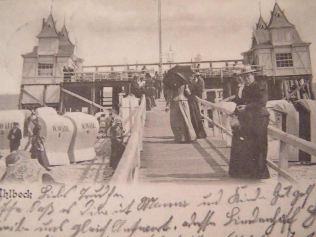 Alte Postkarte Seebrücke Ahlbeck