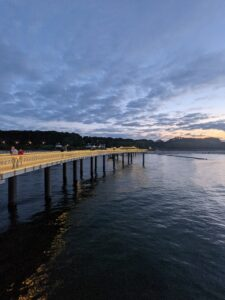 Koserow Seebrücke Blick Richtung Strand