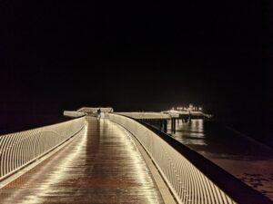 Die Seebrücke in Koserow bei Nacht